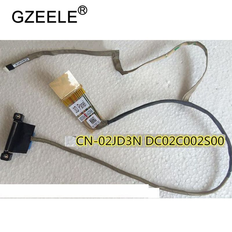 GZEELE New For Dell Alienware M17x R4 3D 40Pin 120Hz LCD Flex Cable 2JD3N 02JD3N DC02C002S00