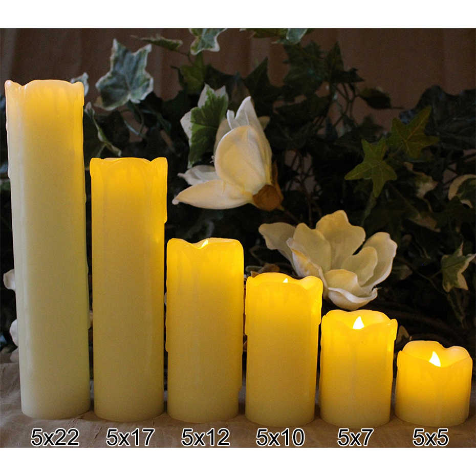 Lot Bougie Led 6pcs Lot Tears Shape Ivory Led Candles Batteries Included Pillar Scented Bougie Velas Candle Home Wedding Decoration Birthday