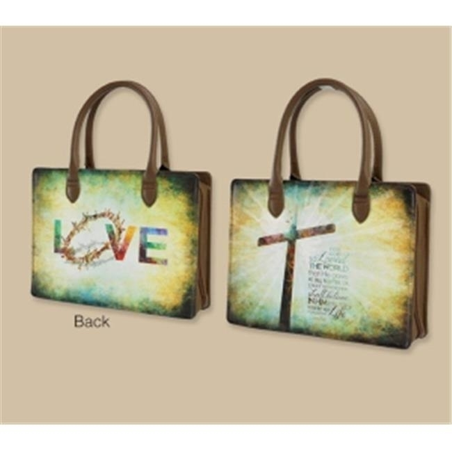 Shades Of Color 180482 Bible Cover-Lady Bible Bag-For God So Loved The World цена