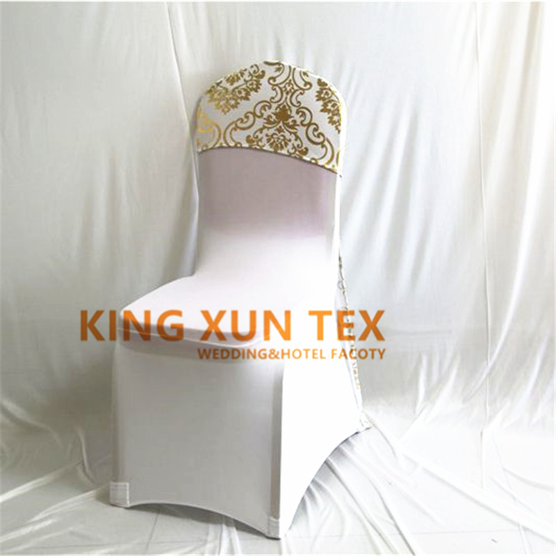 25 50 100pcs Mettalic Lycra Spandex Chair Cap Cover Universal For Wedding Decoration Stretch Party Chair Covers Event Hotel