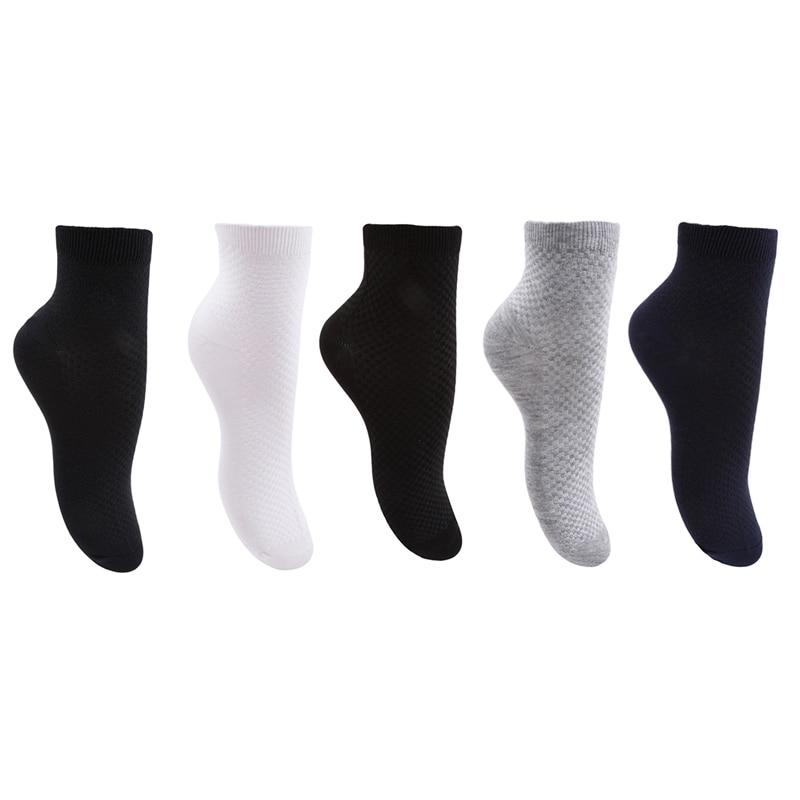 Men Premium Bamboo Fiber Socks Casual Business Anti-Bacterial Deodorant Breath