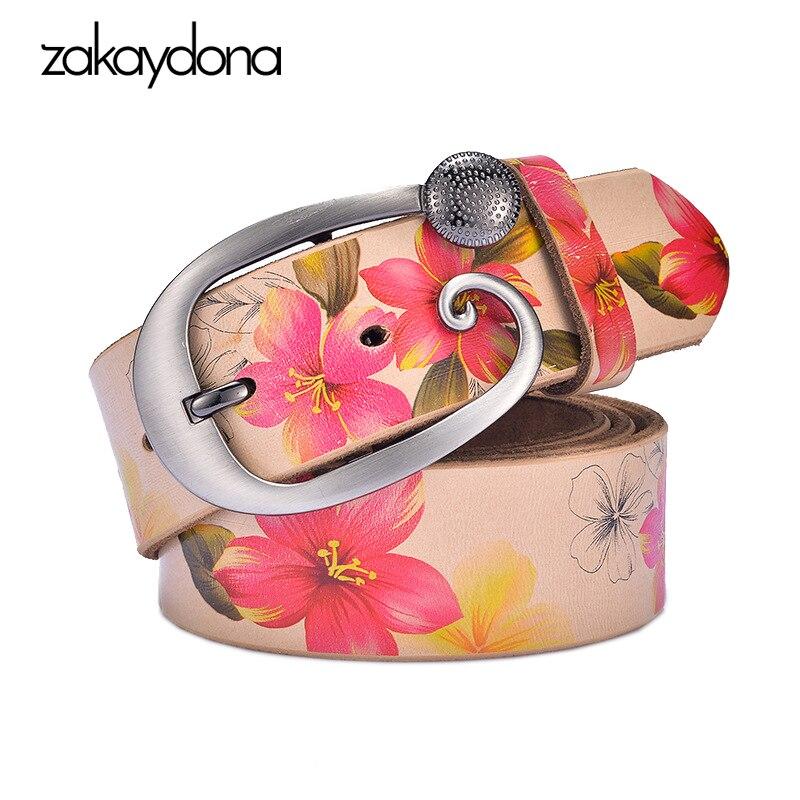 775732a9f7e Cheap Zakaydona cinturón de cuero dividido para mujer marca de lujo Rosa  largo Riem Kemer 2018