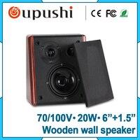 Retaurant 100V Wooden 20 Watt Wall Mount Speaker For Sale