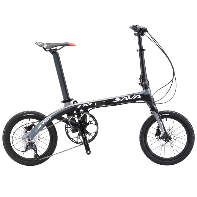 Folding Bike SAVADECK 16 inch Carbon Fiber Frame Children Mini City ...