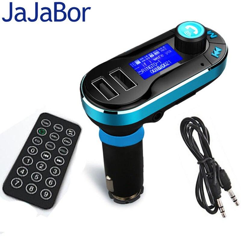 Prix pour JaJaBor Bluetooth Transmetteur FM Mains Libres Voiture Kit Double USB LCD Affichage De Voiture Chargeur USB MP3 Microphone pour IPhone Smarpthones