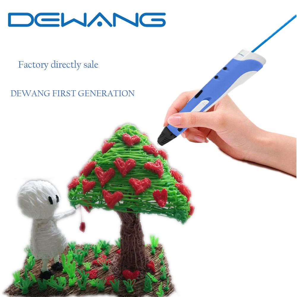 DEWANG 3D Magic Pen for Kids Present  AU/US/UK/EU Plug +200 Meters 20 Color PLA Filament Kid Gift 3D Pens second 3 d pen christmas gift brand new first generation diy 3 d printer pen for kids au us uk eu plug pla filament 1 75mm