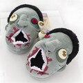 Бесплатная Доставка 1 Пара Плюшевые Зомби Тапочки Ненасытный Зомби Теплые Тапочки