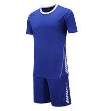 Men kids Boys survetement football 2017 jerseys kit sport soccer jerseys tennis shirts shorts training maillot de foot DIY Print