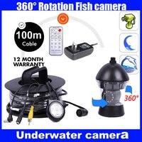 1/3 SONY CCD 600TVL видеонаблюдения подводной охоты Камера Рыболокаторы 100 м кабель вращаться на 360 градусов дистанционного Управление с Мощность п