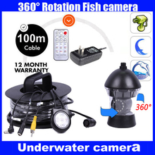 1/3 SONY CCD 600TVL CCTV Underwater Fishing Camera Fish Finder  100M Cable Rotate 360 Degree Remote Control with Power supply