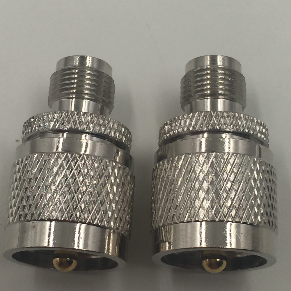 1pce Adapter UHF PL259 male plug to TNC female jack RF connector straight M/F f type female jack to sma male plug straight rf coax adapter f connector to sma convertor