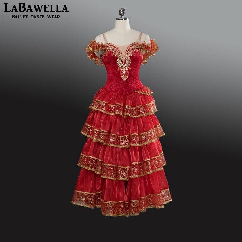 Spanish Matador Professional Dance Ballet Dress For Girls Women Matar Performance Competiton Stage Costume BT9103