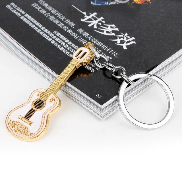 MQCHUN film Anime Coco Cosplay Costumes Miguel guitare modèle porte-clés porte-anneau pour femmes hommes enfants porte-clés bijoux-50
