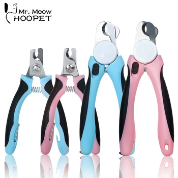 Hoopet Pet Dog Cat Clean Tools Grooming Clippers Professional Sharp Stainless Steel Nail Clippers