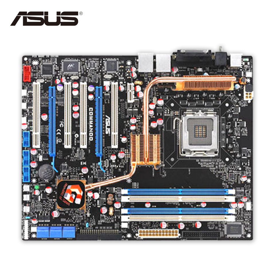все цены на Asus Commando Original Used Desktop Motherboard P965 Socket LGA 775 DDR2 8G SATA2 USB2.0 ATX онлайн