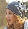 2014 de las nuevas mujeres sombreros de la gorrita tejida Tejer sombrero Sombrero de Lana de la Señora de Las Mujeres Caps 5 colores Liberan El Envío