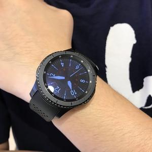 Image 2 - 20Mm 22Mm Sport Rubber Silicone Voor Samsung Gear Galaxy S3 Frontier Klassieke Waterdichte Horloge Band Strap Gebogen End armband Man