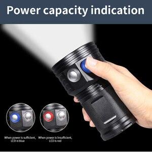 Image 3 - Diving Lanterna Flashlight 18650 Torch Underwater 80m Photography Light Video Lamp  L2 White Red Blue LED Scuba Photo Fill light
