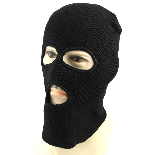 BLACK Warm Full Face Cover Winter Ski Mask Beanie Hat Cap Scarf Hood Mens  Womens 01e836892f