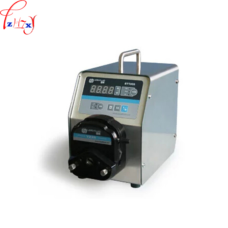 110v / 220v Led digital display low flow Precise variable speed peristaltic pump for water pumps fluid BT100S ZY15 1pc