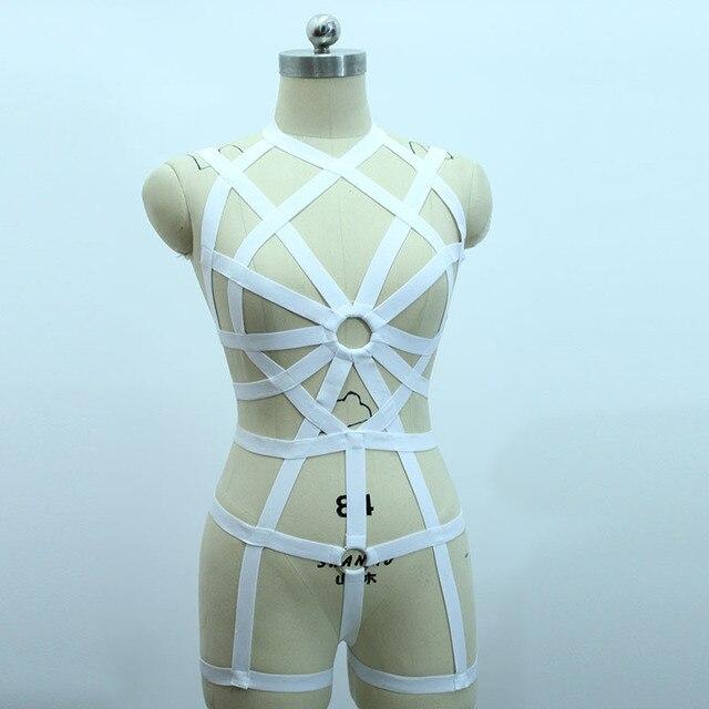 New fashion pastel goth O ring strap  bust garter belt suit sexy lingerie female bust dress set bondage  garter belt retail