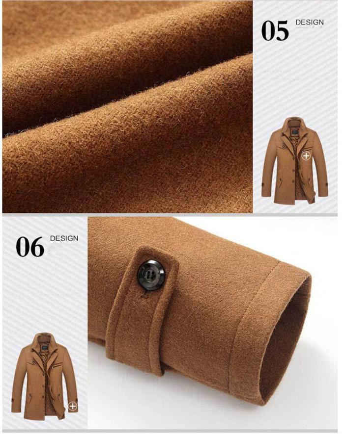 Mountainskin Winter Men Thick Coats Slim Fit Jackets Mens Casual Warm Outerwear Male Woolen Jacket Men Brand Clothing 4XL SA606