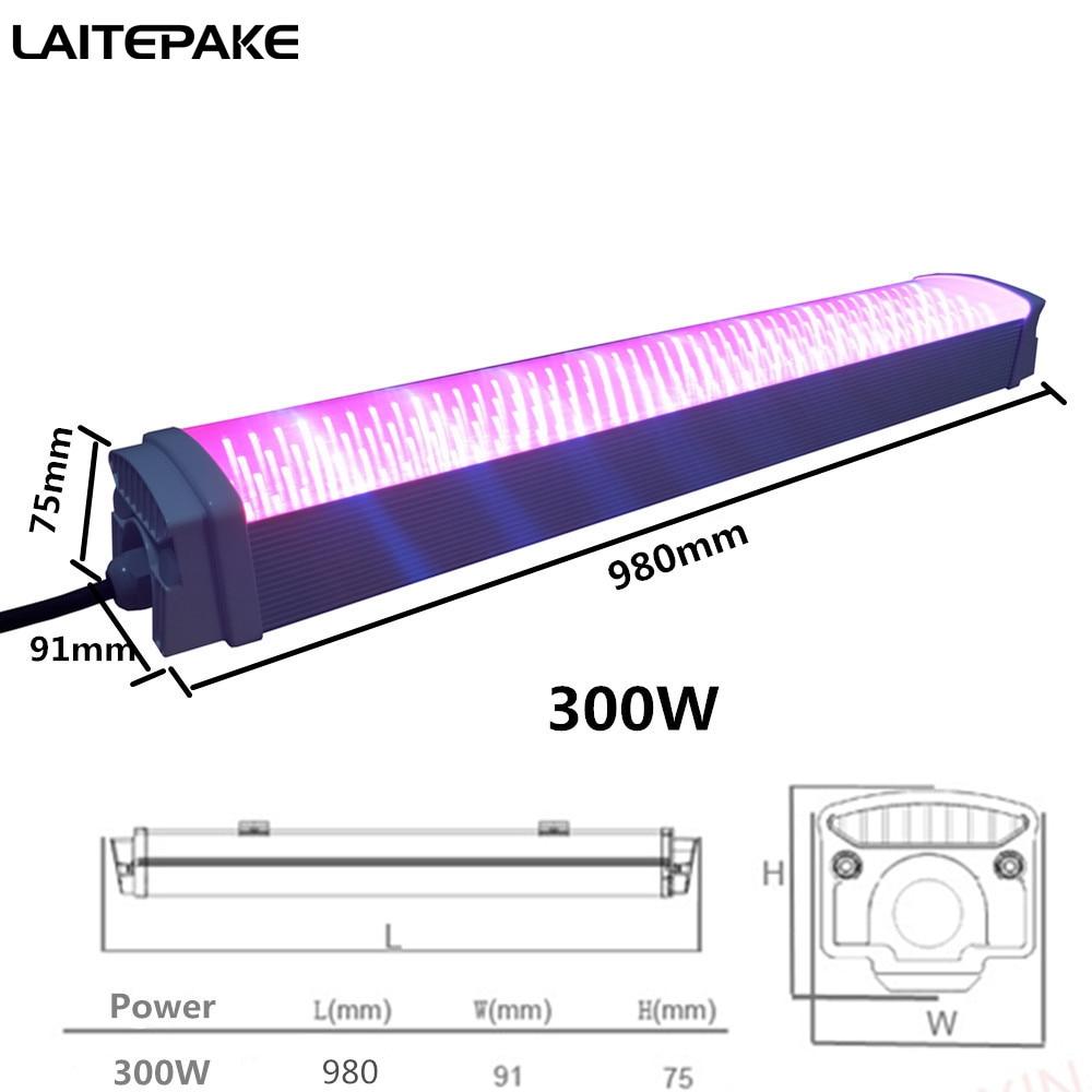 300W led grow light 98cm waterproof grow strip plant light spectrum for indoor grow box tent