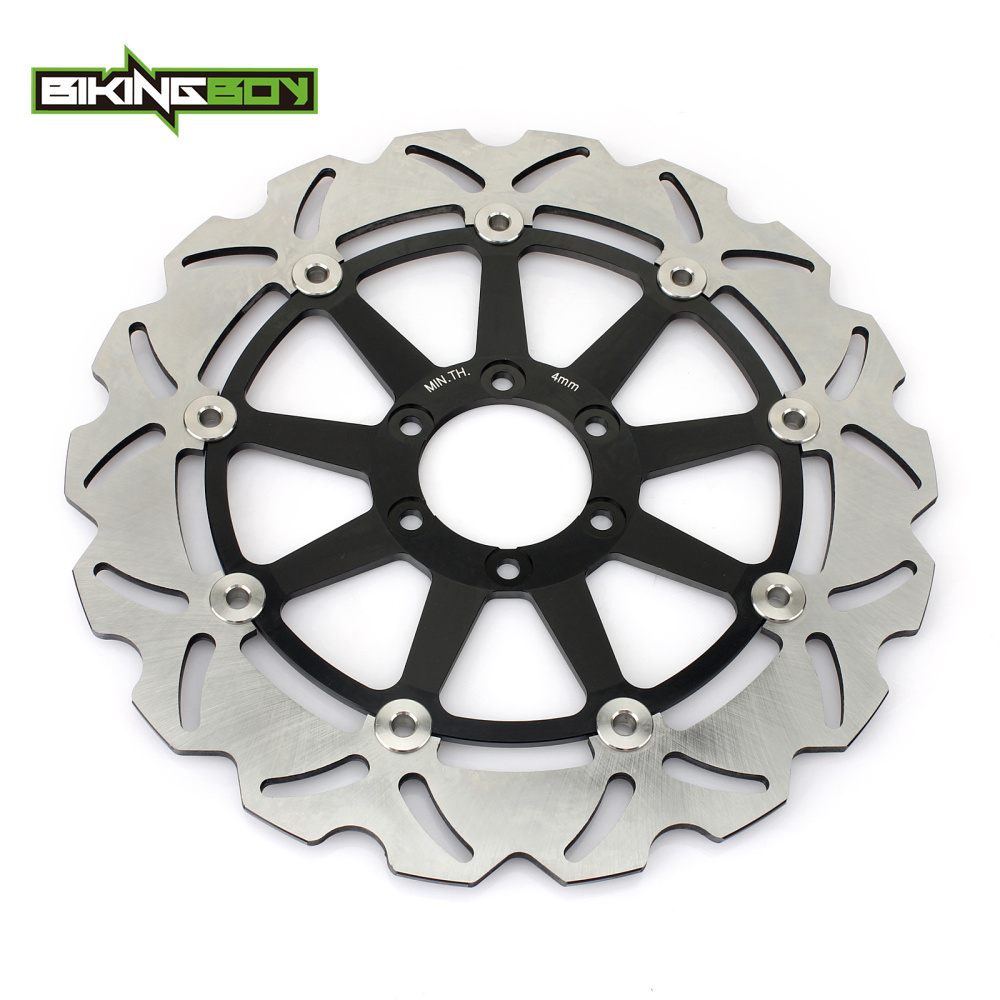 BIKINGBOY Front Brake Disk Rotor for YAMAHA TDR125 TDR250 TZR125 FZX250 SRX400 SZR660 TDR TZR 125 FZX 250 SRX 400 SZR 660 89-16 bikingboy atv quad front brake disc rotor for yamaha yfm 250 rspxc special edition custom rspa 2011 11 350 xw warrior 1989 89