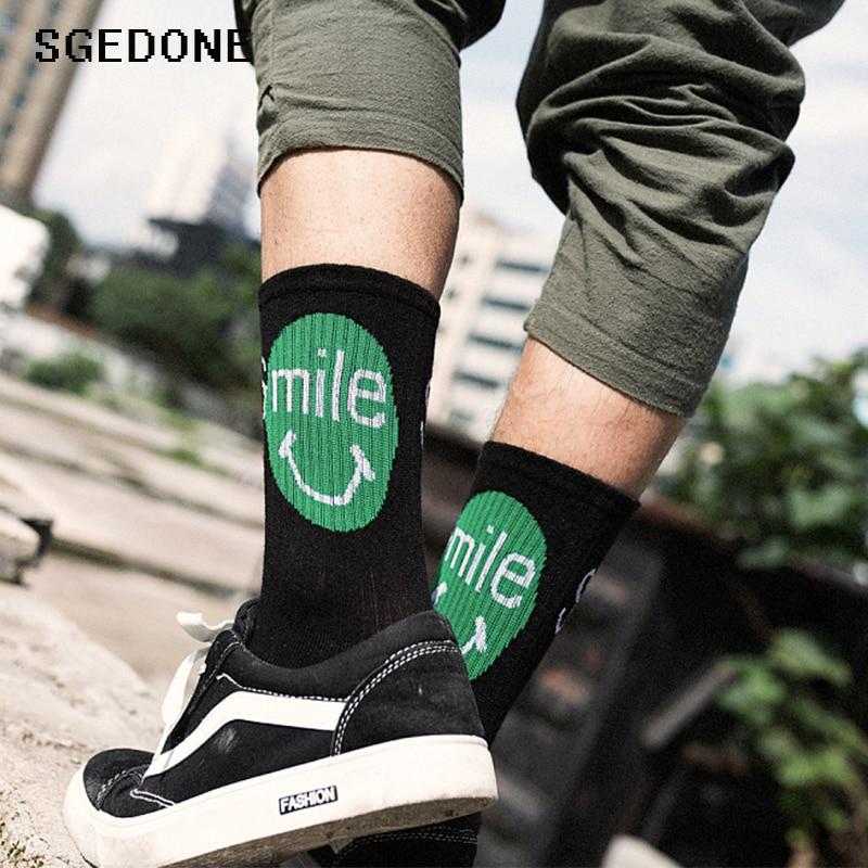 Cotton Letter Harajuku Hip Hop Casual Sox Long Skateboard Socks Mens Street Boat Sock For Male Low Cotton Socks Art Male Sox Men's Socks
