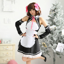 Negro maid dress for women sissy maid cosplay ropa para adultos princesa anime cosplay disfraces de halloween ropa