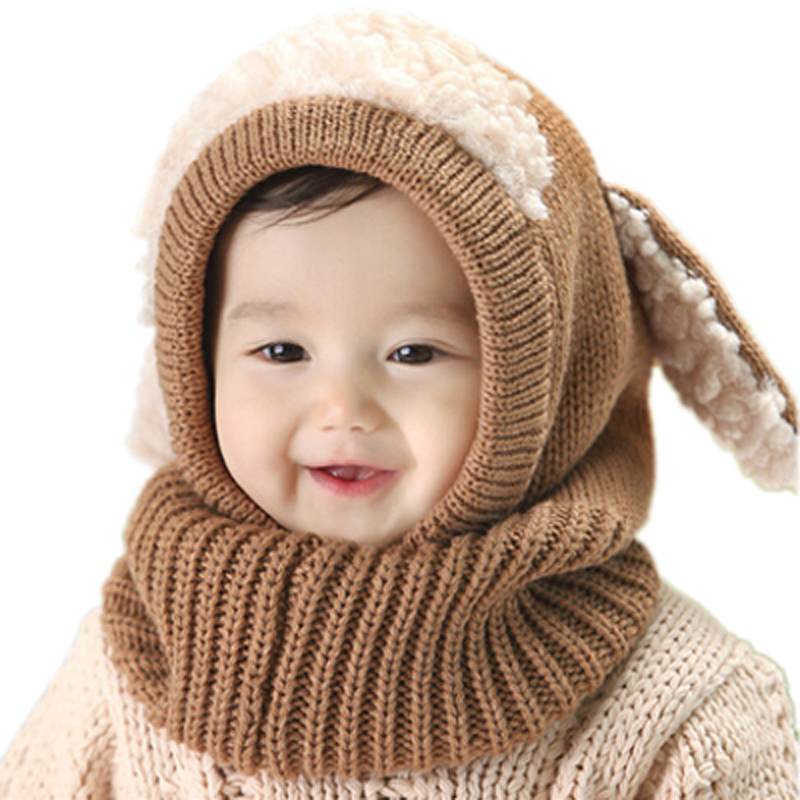 Invierno Bebé sombrero y bufanda conjunto con estilo perro ganchillo de  punto gorras para bebé Niños Niñas niños nueva moda niños masajeadores de  cuello ... 94d08ac19ce