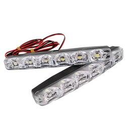 LEEPEE 2 шт светодиодный автомобильный дневные ходовые огни DRL 6 светодиодный s DC 12V 6000K Автомобильный свет источник автомобиля Стайлинг водонеп...