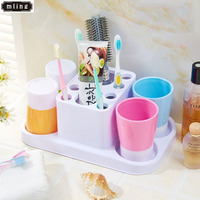 mling 1PC Toothbrush Holder 4 Cups Toothbrush Holder Set Mouth Cup Four Cups Wash Set