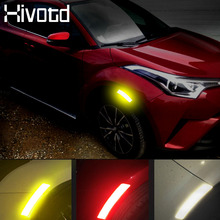 цена на Hivotd for peugeot 3008 3008GT exterior accessories car stickers Car Bumper Reflective Warning Stickers Car Styling 2019 2018