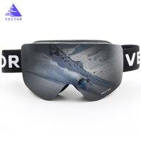VECTOR Ski Goggles Men Women 2 Lens Anti Fog UV400 Skiing Eyewear Adult Winter Snowboard Snow
