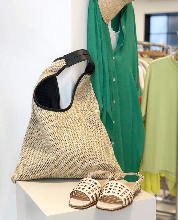 NEW Fashion Handmade Woven Straw Handbag Shoulder Bag Large Summer Beach Bag Women Luxury Handbags Women Bags Designer Ladies