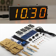 DIY Digital Clock Kit Light Control Industrial Control 1 Inch LED Electronic Kit 5 Colors in stock
