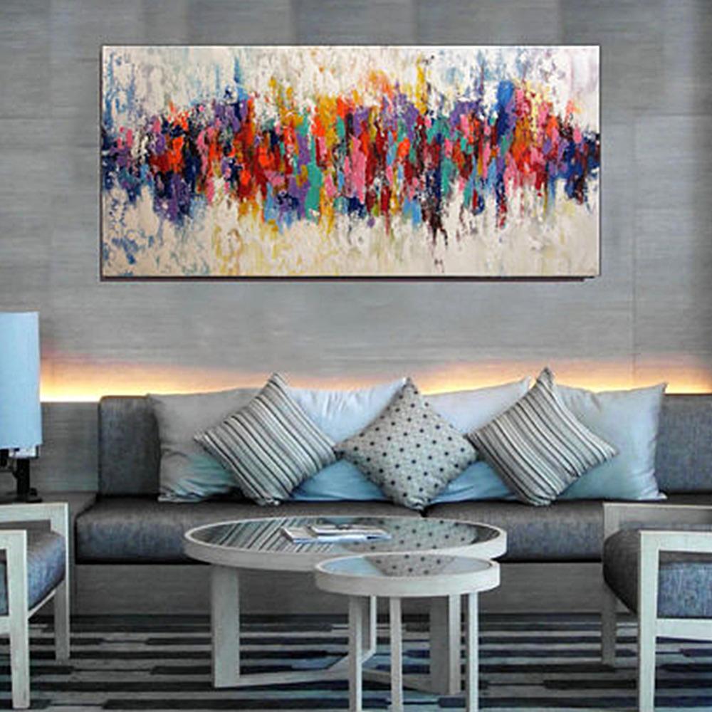 Iarts moderne kunst abstrakte acryl handgemachtes rahmenlose bild malerei leinwand wandbilder für wohnkulturchina