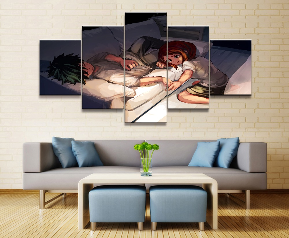 My Hero Academia Anime 5 Piece HD Print Wall Art Canvas Art For Living Room Decor Painting Wall Art Canvas Home Decor Pictur in Painting Calligraphy from Home Garden