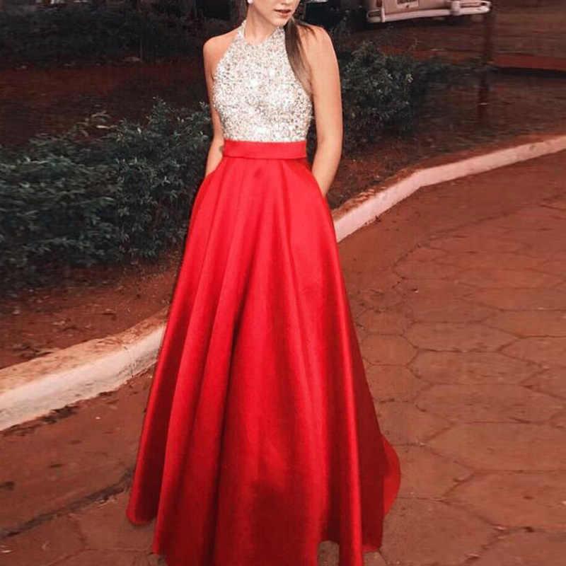 Женское вечернее платье трапециевидной формы; модные вечерние бальные повседневные длинные платья; сарафан с блестками; качели