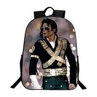 Student Backpacks DIY Michael Jackson BAD Moonwalk Billie Jean Luxury Printing Cool Children School Bags For