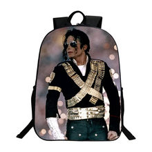 Student Backpacks DIY Michael Jackson BAD Moonwalk Billie Jean Luxury Printing Cool Children School Bags For Boys Men Book Bag(China)