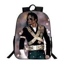 Mochilas para estudiantes DIY Michael Jackson BAD Moonwalk Billie Jean, Impresión de lujo, geniales mochilas escolares para niños, bolsa de libros para hombres