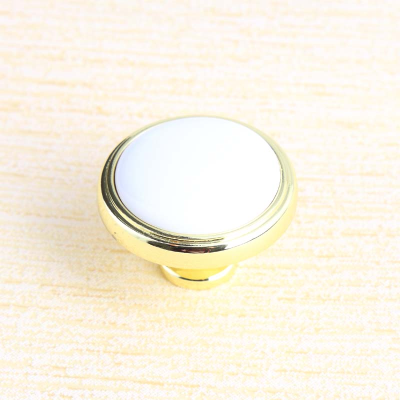 36mm modern simple white gold Tv cabinet drawer knobs pulls white ceramic dresser kitche cabinet cupboard door handles knobs modern simple invisible cabinet door knobs