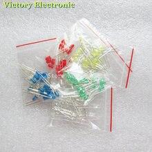 100pcs 3mm LED Light White Yellow Red Green Blue Assorted Kit DIY LEDs Set electronic diy kit