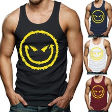 077d67512cc2a OA Men  s Funny Cool Graphic Evil Smile Workout Muscle Fit Gym Smiley Tank  Top