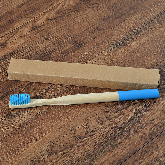 1pc Eco friendly Bamboo Toothbrush Medium Bristles Biodegradable Plastic-Free Oral Care Adults Toothbrush Bamboo Handle Brush 3