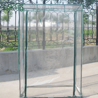 Transparent Rectangle Waterproof UV resistant Greenhouse PVC Plant Cover Tomato Garden Tent Patio Mosquito Bird Repeller