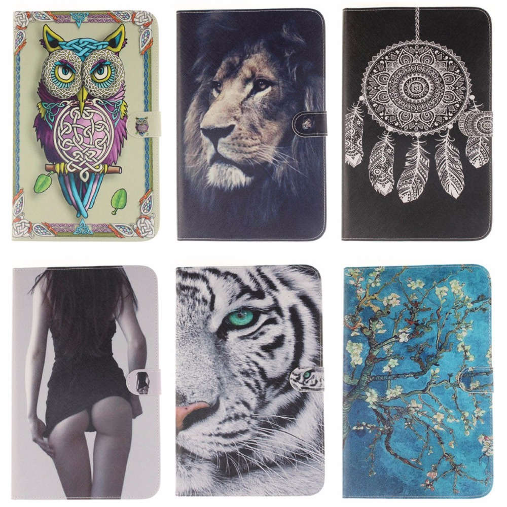 Animal Cartoon Tiger Lion Cover For Samsung Galaxy Tab E 9.6 T560 SM-T560 SM-T561 Case PU Leather Tablet Stand With Card Slot bf luxury tablet case for samsung galaxy tab e 9 6 sm t560 sm t561 t560 t561 pu leather flip cute book stand cover protector