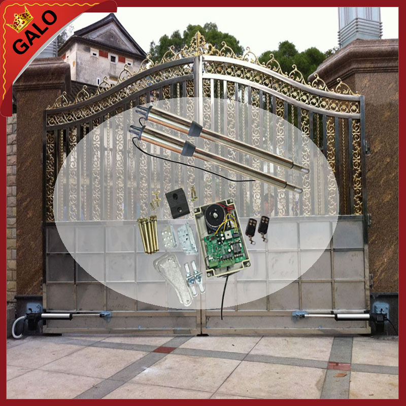 galo Driving Double-leaf Swing Gate Operator/Swing Gate Opener /with circuit board and 2pcs Remote control sliding gate operator user manual py600ac with inside control board remote control sensor and 4m steel rack capecity 600kg gate